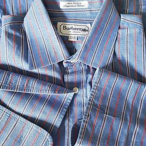 Burberry of London stripe French cuff dress shirt